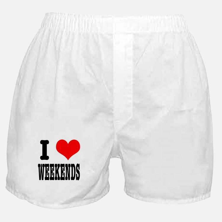 I Heart (Love) Weekends Boxer Shorts
