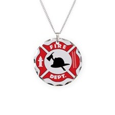 Fire Department Logo Necklace