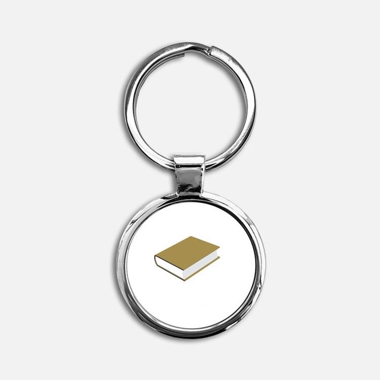 Careful Novel Round Keychain