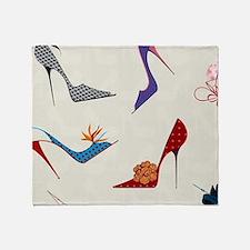 High Heels Seamless Pattern. Throw Blanket