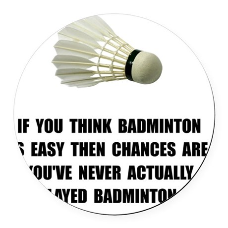 Badminton Easy Round Car Magnet