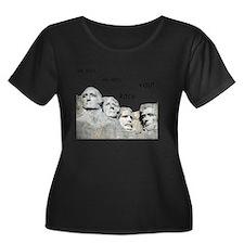 Rushmore Women's Plus Size Dark Scoop Neck T-Shirt