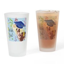 crested graduate Drinking Glass