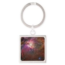 Orion Outerspace Nebula Square Keychain