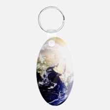 Outerspace Earth Sunset Keychains