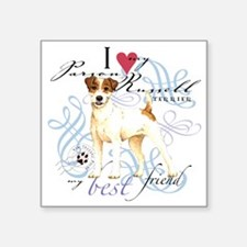 "parson russell terrier Square Sticker 3"" x 3"""