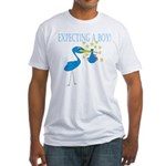 Expecting a Boy Stork Fitted T-Shirt