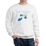 Expecting a Boy Stork Sweatshirt