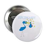 Expecting a Boy Stork Button