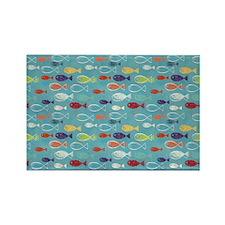 Cute Summer Beach Fish Rectangle Magnet
