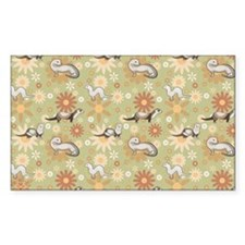 Ferrets and Flowers Decal