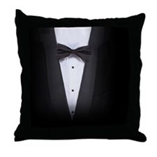 Womens Tuxedo Shirt Throw Pillow