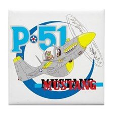 P-51 MUSTANG II Tile Coaster