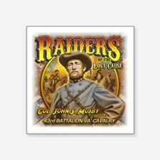 "Raiders of the Lost Cause Square Sticker 3"" x 3"""