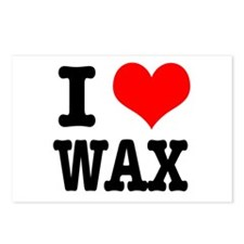 I Heart (Love) Wax Postcards (Package of 8)