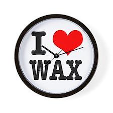 I Heart (Love) Wax Wall Clock