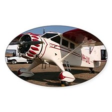 Stinson Aircraft (red & white) Decal