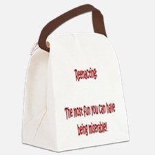 The most fun you can have Canvas Lunch Bag