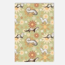 Ferrets and Flowers Postcards (Package of 8)