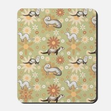 Ferrets and Flowers Mousepad