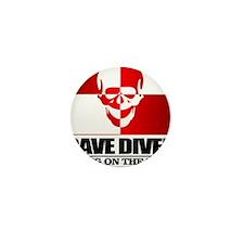 Cave Diver (Skull) Mini Button