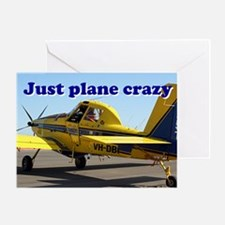 Just plane crazy: Air Tractor (blue  Greeting Card