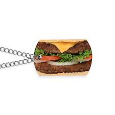 Hamburger Dog Tags