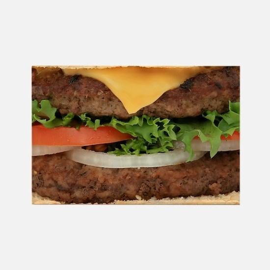 Hamburger Rectangle Magnet