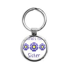 Worlds Best Sister Round Keychain