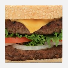 Funny Hamburger Tile Coaster