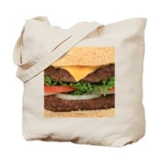 Funny Hamburger Tote Bag