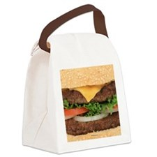Funny Hamburger Canvas Lunch Bag