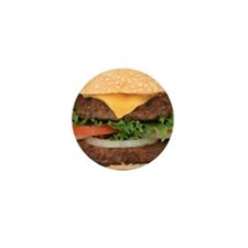 Funny Hamburger Mini Button