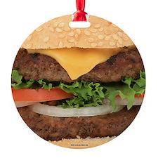 Funny Hamburger Ornament