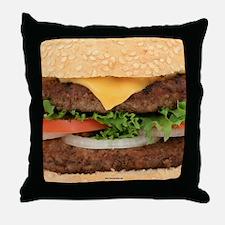Funny Hamburger Throw Pillow