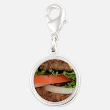 Hamburger Silver Round Charm