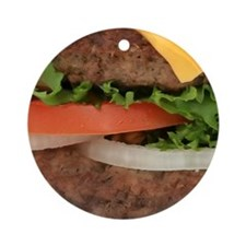 Hamburger Round Ornament