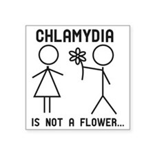 "Clamydia Square Sticker 3"" x 3"""