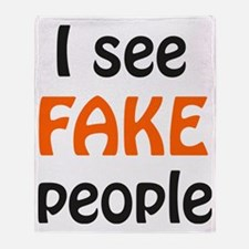 Fake people Throw Blanket