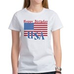 4th of July Happy Bday Women's T-Shirt