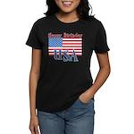4th of July Happy Bday Women's Dark T-Shirt