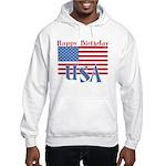 4th of July Happy Bday Hooded Sweatshirt