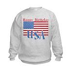 4th of July Happy Bday Kids Sweatshirt