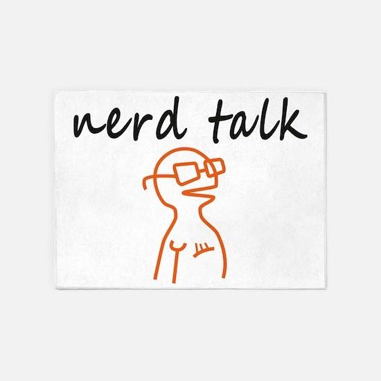 Nerd talk 5'x7'Area Rug
