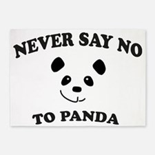 Never say no to panda 5'x7'Area Rug