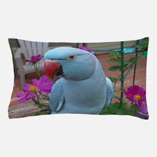Indian Ringneck Parakeet Closeup Pillow Case
