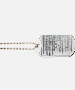 Christmas tree in the forest Dog Tags