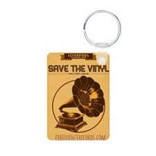 save the vinyl Aluminum Photo Keychain