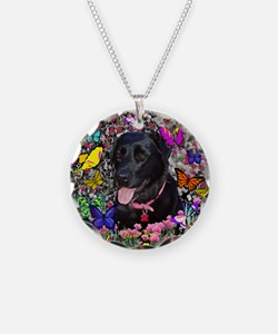 Abby the Black Lab in Butter Necklace