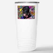 Abby the Black Lab in B Travel Mug